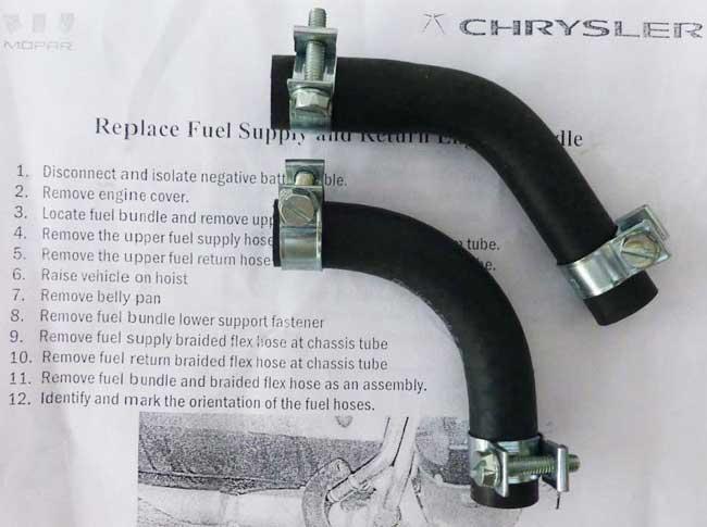 Chrysler 300c Diesel Fuel Hose Kit